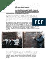 Kunstperformance gegen Huldigung des Kolonialismus in Hamburg