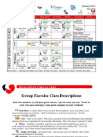 January 2012 Group Fitness Schedule