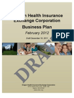 Oregon Health insurance Exchange Corp. business plan