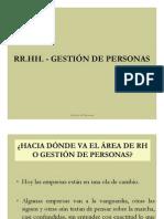 RR.HH, - Gestión de Personas