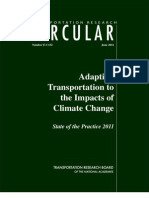 Adapting Transportation to the Impacts of Climate Change - State of the Practice 2011