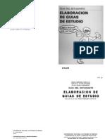 Elaboracion de Guias de Estudio - Guia Del Estudiante - UNAM SEP