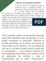 Rol de La Mujer en La Sociedad Peruana
