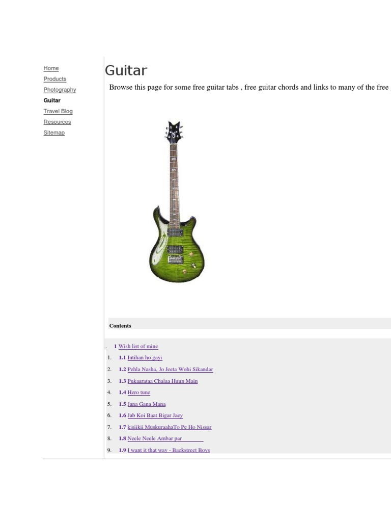 Guitar Book Awesome