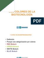 LOS COLORES DE LA BIOTECNOLOGÍA