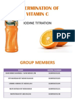 Determination of Vitamin c