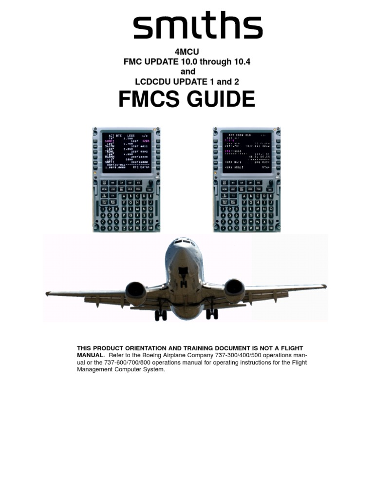 b737ng smiths fmc guide navigation aviation rh es scribd com boeing 737 fmc users guide 737 Overhead Panel