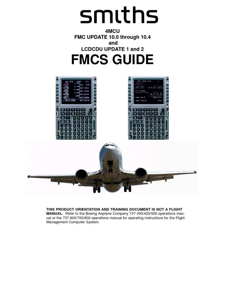 b737ng (Smiths) Fmc Guide | Navigation | Aviation