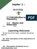 1.1&1.2 (Atoms & Molecules) Student Copy