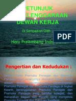 Petunjuk Penyelenggaraan Dewan Kerja Dandi KPDK 2007 by Heru Pralambang Indra Irawan