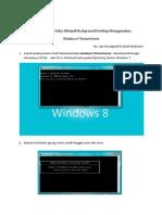Membuat Video Menjadi Background Desktop menggunakan Windows7-DreamScene