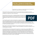 Position Paper Packaging