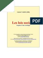 TARDE - Les Lois Sociales
