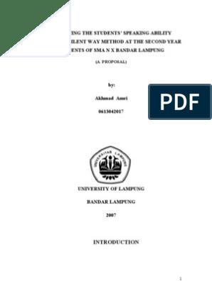 Contoh Proposal Skripsi Bahasa Inggris Tentang Speaking Pdf Kumpulan Berbagai Skripsi