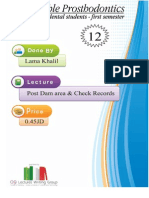 prostho 12 ,Post Dam area and check records