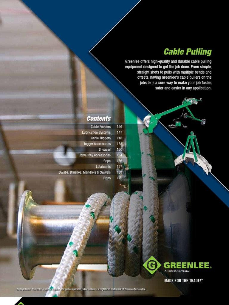 """GREENLEE 4/"""" CABLE PULLING FLEXIBLE MANDREL 39257"""