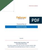 Sample Financial Plan for Mahesh
