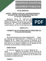 Directiva Nº 004 - 2011-SUNARP/SA - Fe de Erratas