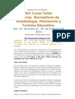 Talleres de Arqueologia y Turismo Educativo 2012