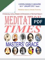 Meditation Times Jan 2012