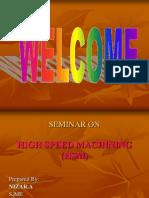 High Speed Machining Ppt