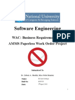 Business Requirements for AMMS Paperless Work Order Project