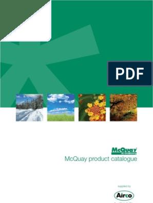 McQuay Brochure | Air Conditioning | Hvac