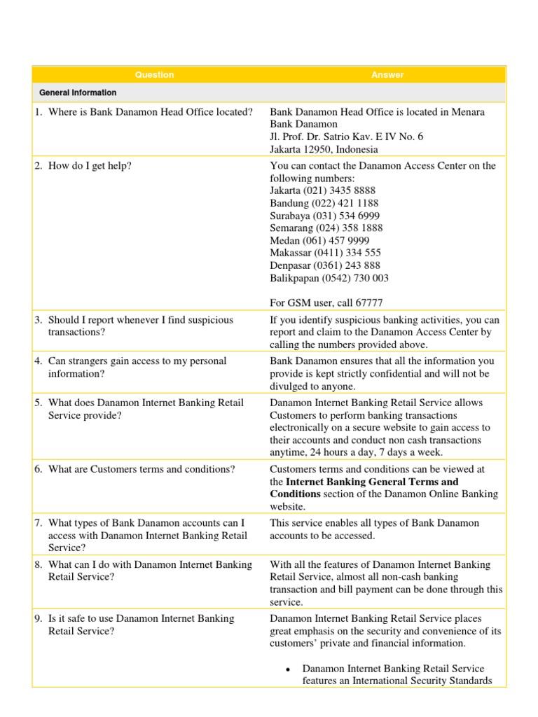 Danamon Internet Banking Manual Online Banking Banks Banking