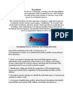 Recruitment & Selection Process of Xtreme Advertising & Events
