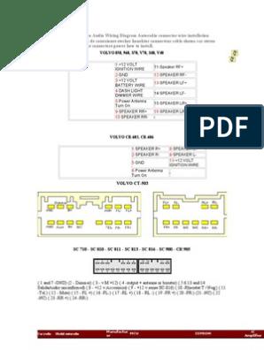 Volvo 4 | Telecommunications Engineering | Electricity | Volvo Sc 816 Wiring Diagram |  | Scribd