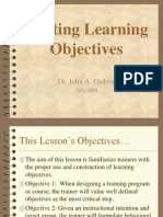 Learning Objectives Writing