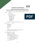 10 Mathematics Arithmetic Progressions Impq 1