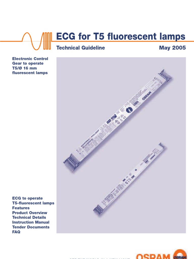 Quicktronic t5 Technical Guide 130t015gb | Fluorescent Lamp