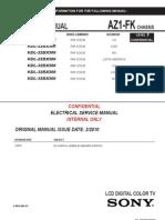 Manual de Servicio Sony KDL-32BX300 Chasis AZ1-FK