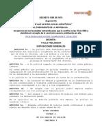 Colombia Decreto 1355 de 1970 Código Nacional de Policía