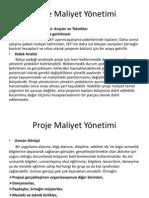 Proje Maliyet Yönetimi