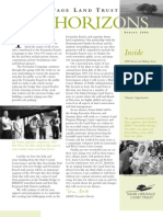 Spring 2006 Horizons, Muir Heritage Land Trust Newsletter