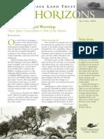 Autumn 2007 Horizons, Muir Heritage Land Trust Newsletter