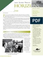 Spring 2008 Horizons, Muir Heritage Land Trust Newsletter