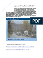 Frack Truck Impacts on Towns