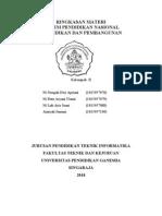 Sistem Pendidikan Nasional Dan Pendidikan Dan Pembangunan