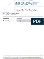 Rays of Positive Electricity