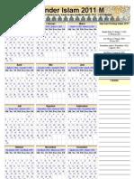 Kalender Islam 2011 Ummulqura