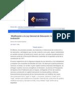 QuadratínModificaciónLGEEvaluación universal.