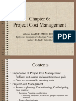 PMBOK Chapter 6 - Cost