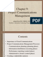 PMBOK Chapter 9 - Communication