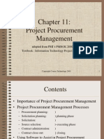 PMBOK Chapter 11 - Procurement