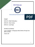 Global Startegy Analysis of ECI
