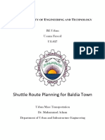 NED Shuttle Route Planning for Baldia Town