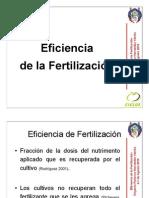 8.- Eficiencia de la Fertilización